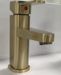 St-Catherine Single Handle Lav Faucet Antique Brass