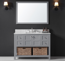 "Jupiter  48"" Grey Bathroom Vanity"
