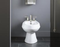 Kohler | San Tropez® Vertical spray bidet with 4 faucet holes