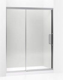 "Lattis® Pivot shower door, 76"" H x 57 - 60"" W, with 3/8"" thick Crystal Clear glass"
