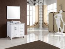 Royal Palmera 40 inch White Offset Left Sink Bathroom Vanity