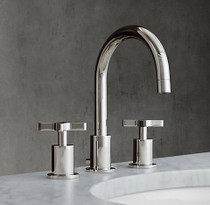 "Panama Gooseneck 8"" Widespread Bathroom Faucet Chrome"