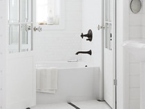 Kohler | Artifacts® Wall-mount bath spout with flare design Oil-Rubbed Bronze