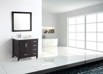 "Palmera 44"" Espresso Offset Left Sink Bathroom Vanity"