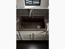 "Kohler | Kennon® 33"" x 22"" x 10-1/8"" Neoroc® top-/under-mount single-bowl kitchen sink"