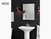 "Kohler | Elmbrook™ pedestal bathroom sink with 4"" centerset faucet holes"
