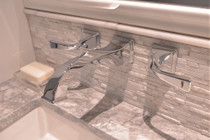 Brizo   Virage® Two Handle Wall-Mount Lavatory Faucet