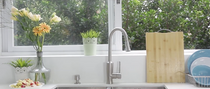 Castle Bay Ladena Pullout Kitchen Faucet with Spray Button Stainless Steel
