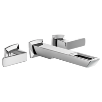 Brizo   Vettis™ Two-Handle Wall Mount Lavatory Faucet With Open-Flow Spout