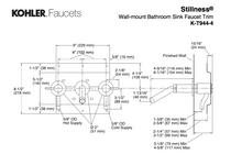 Kohler   Stillness® Widespread wall-mount bathroom sink faucet trim, requires valve