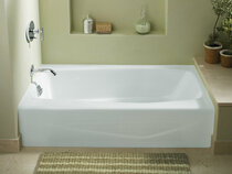 """Kohler Villager® 60"""" X 30"""" Alcove Bath With Integral Apron And Left-Hand Drain"""