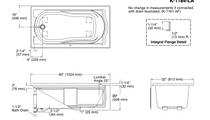 "Kohler   Devonshire® 60"" X 32"" Alcove Bath With Integral Apron, Integral Flange And Left-Hand Drain"