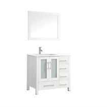 "Wasaga 40"" White Bathroom Vanity"