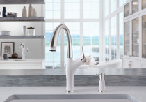 Blanco 442029 Artona Silgranit kitchen faucet in stainless white finish