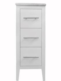 "Kennedy 12"" White Side Linen Cabinet"