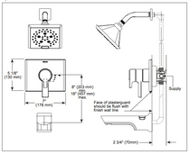 Delta Pivotal™ Monitor® 17 Series H2Okinetic® Shower Trim