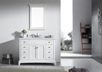 Royal Boca 60 inch White Single Sink Bathroom Vanity