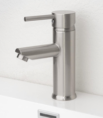 Royal Palm Single Handle Lavatory Faucet in Brushed Nickel