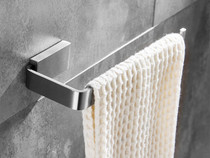 Costa Brushed Nickel Stainless Steel Towel Ring