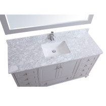 "Keyes 60"" Gray Single Sink Bathroom Vanity"