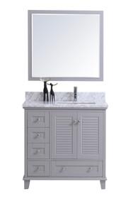Royal Keyes 40 inch Gray Offset Right Sink Bathroom Vanity