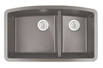"Karran Double Bowl Undermount Kitchen Sink Concrete Finish 32-1/2"" x 19-1/2"""