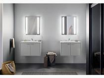 "Kohler Verdera® lighted medicine cabinet, 24"" W x 30"" H"