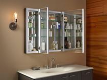 """Kohler Verdera® 40"""" W x 30"""" H aluminum medicine cabinet"""