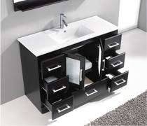 Pompano 55 inch Espresso Single Sink Bathroom Vanity