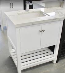Jupiter 30 inch White Bathroom Vanity