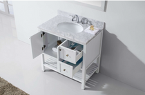 "Daytona 40"" White Bathroom Vanity"