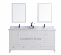 "Keyes 60"" White Double Sink Bathroom Vanity"
