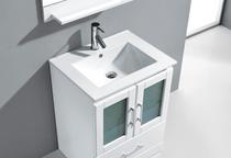 "Pompano 24"" White Bathroom Vanity"