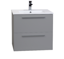 "Zoom 24"" Gray Wall Mount Bathroom Vanity"