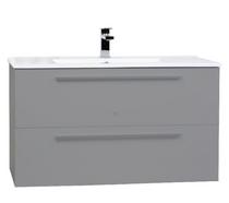 "Zoom 30"" Gray Wall Mount Bathroom Vanity"