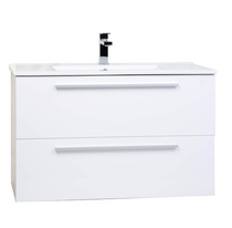 "Zoom 30"" White Wall Mount Bathroom Vanity"