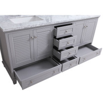 "Keyes 72"" Gray Double Sink Bathroom Vanity"