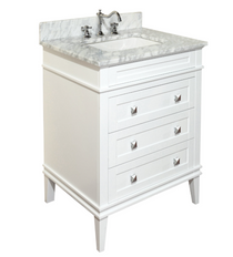 "Ibis 30"" White Bathroom Vanity"