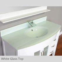 Juno 60 inch White Single Sink Bathroom Vanity