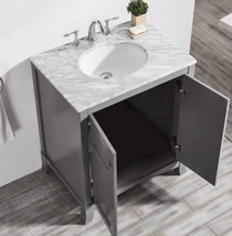 "Bay  30"" Gray Bathroom Vanity"
