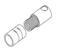 "Toto Kiwami® Renesse® Hand Shower Adapter (1/2"")"