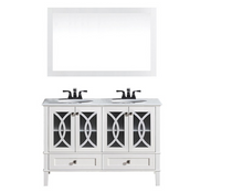 "Florida  72"" White Double Sink Bathroom Vanity"