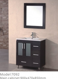 Luxe 32 inch Espresso Bathroom Vanity with ceramic Top **ON SALE