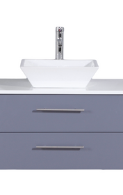 "Weston 24"" Gray  Wall Mount Bathroom Vanity"