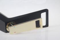 LIMITED EDITION! Royal Cube Single Handle Lavatory Faucet in Black and Gold