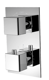 Royal Miami Two-Way Thermostatic Shower System in Brushed nickel