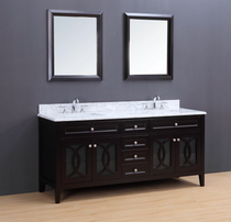 "Florida 72"" Espresso Double Sink Bathroom Vanity"