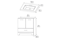 "Venus 30"" Bathroom Vanity"