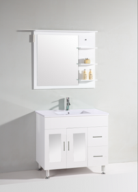 "Jane 36"" White Bathroom Vanity"
