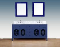 Royal Casa 72 inch Navy Blue  Double Sink Bathroom Vanity